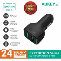 Aukey Car Charger Dual Port CC-S3 24W Original