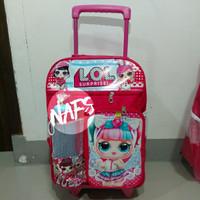 Tas Trolley Anak Perempuan Sekolah TK SD Lol/Tas Trolli Koper Anak T01