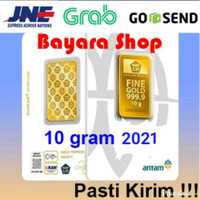 Emas Batangan Logam Mulia LM Antam 10 gram, Certieye/Reinvented, Asli