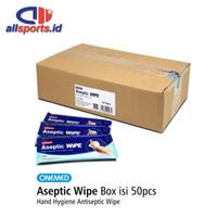 Onemed Aseptic Wipe Tissue Antiseptik isi 50 pcs / Tisu Basah