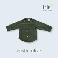 Baju Koko Anak - Iris Babywear - Austin Shirt - Olive