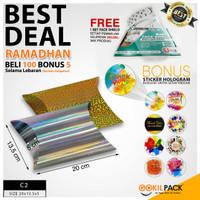 Gift Box | Kotak Pillow | Souvenir | Kotak Hadiah Hologram (20x13,5x5) - C2-03 SPKR SLVR