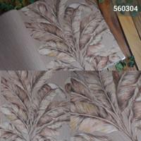 [MURAH] Jual wallpaper dinding motif daun coklat