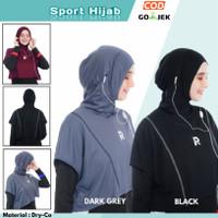 Jilbab Hijab Sport Sporty Olahraga Senam Yoga bersepeda Rocella Gloria