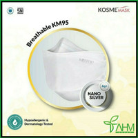 MASKER KM95 KOSMEMASK BREATHABLEMASK NANO SILVER - KOSME MASK (Retail)