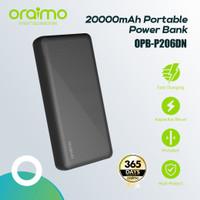 Oraimo PowerBank Slim 20000mAh Fast Charging Dual Output OPB-P206DN