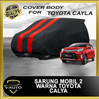 Sarung Mobil Body Cover 2 Warna Merah Hitam Toyota Calya