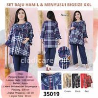 CM 29 Baju Setelan Panjang Set Hamil Menyusui BigSize Jumbo XXL LD 110