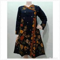 Baju atasan wanita batik blouse tunik bunga jumbo ld 120
