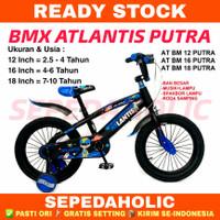 Sepeda Anak Laki 12 16 18 Inch ATLANTIS PUTRA Ban Jumbo Lampu Musik