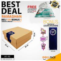 Box Packaging Kardus Polos Kue/Cake/Tart/Bolu/dll 20x20x10 cm | A1-02
