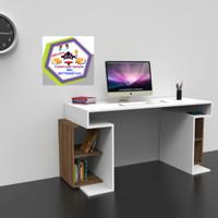 meja kantor/meja kerja murah kayu jati belanda ukurn P.110xL.50xT.75cm