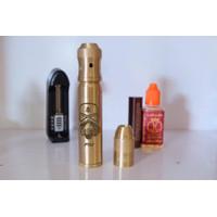 paket ngebul lengkap vape mechanical mod AV able trooper gold + RDA
