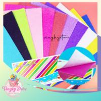 Sticker Foam Art Glitter 20 x 30 Pilih 1 Warna - Pink Tua