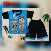 Baju Kaos Setelan Karakter Riko Pakaian Anak Laki-Laki