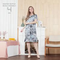 Daster Viral Ruffle Rayon Busui Motif Leaf 01