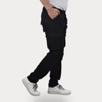 Emoline Long Cargo Pants - Celana Cargo Panjang Pria Hitam