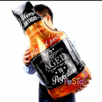 Balon Foil Botol Whisky Age Hitam Cooper