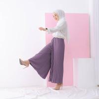 Celana Wanita Kulot Plisket Termurah Bahan Premium hyget import tebal