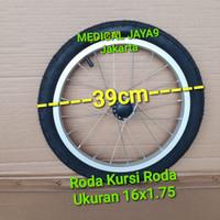 Roda ban belakang Kursi Roda Travel Ukuran 16 Sparepart Suku Cadang