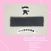 [murah] bandana handuk hitam polos handuk unisex - Hitam