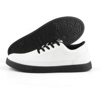 DEDRICK |ManNeedMe x NAZ| Sepatu Sneakers Pria Casual ORIGINAL - Putih Hitam, 42