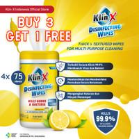 Klin-X Tisu Tissue Basah Disinfektan Antibakteri (BUY 3 GET 1 FREE)