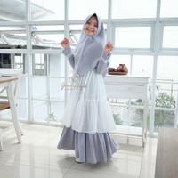 Baju Gamis Anak - MOLLY SYARI KIDS / Gamis Syari Anak - GREY, all size