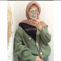 Baju Atasan Cardigan Rajut Wanita Strada Warna Alpukat Ukuran XL