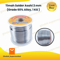 Timah Solder Asahi 3 mm (Grade 60% Alloy, 1 KG )