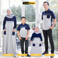 Baju Couple Keluarga Kaos Sarimbit Family Set Shafamarwa 40 Navy