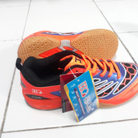 Sepatu Badminton Anak Ukuran 37 Hi-Qua Inter Action Orange - Murah COD