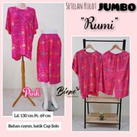 Setelan Kulot Batik JUMBO Ld. 130 cm Rumi - Pink