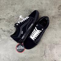 Sepatu Vans Old Skool Pro Skate All Black Full Hitam Premium Original
