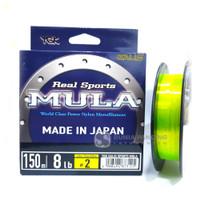 Senar YGK Galis Real Sport Mula 150M New Color Fluo Yellow