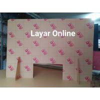 Sekat Acrylic 2mm Lebar 60x60cm Meja Teller Kasir Partisi Pembatas