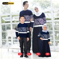 Baju Couple Keluarga Kaos Sarimbit Family Set Shafamarwa 57 Navy