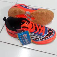 Sepatu Badminton Bulutangkis Anak Hi-qua Orange Ukuran 34 35 36