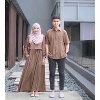 Baju pasangan suami istri gamis kemeja polos elegan casual couple