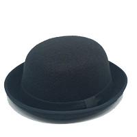 Topi Fedora Tipe Bowler / Topi Caplin Premium Hat - Hitam, All Size