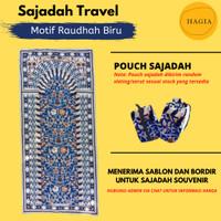 Sajadah Travel Motif Raudhah GRATIS POUCH - Sajadah Traveling