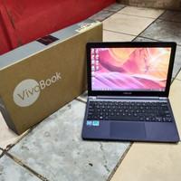 laptop asus e203mah intel celeron N4000 ram 2 gb hdd 500 gb fullset