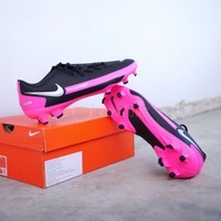 Sepatu Bola Nike Phantom GT Academy FG - Black Pink Original CK8460006