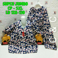 baju tdr piyama super jumbo 5XL/ld.128 - skura full nevy