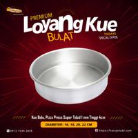 Loyang Kue Premium Bulat Press Pendek 4 cm Kue Cake Bolu Super Tebal