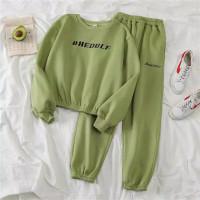 setelan sweater baju celana panjang training jogger wanita unisex