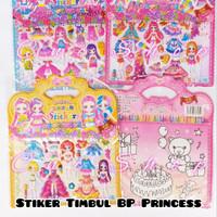 Stiker Timbul BP Baju Princess Hologram Bagus Mainan Anak Cewe