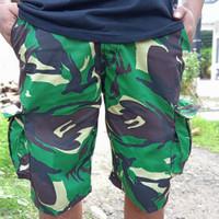 Celana pendek cargo army loreng pria strong Berkualitas