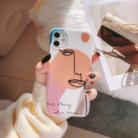 Case All Iphone 6 7 8 + Plus X XS XR 11 PRO MAX Casing Art Abstract