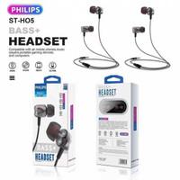 HEADSET HANDSFREE PHILIPS ST-H05 TRANSPARAN BASS+ EARPHONE SUPERBASS